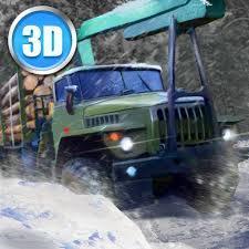 تحميل Winter timber truck simulator 1.1 مجانا للاندرويد